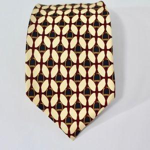 Paolo Gucci Equestrian Silk Tie, Beige, D10